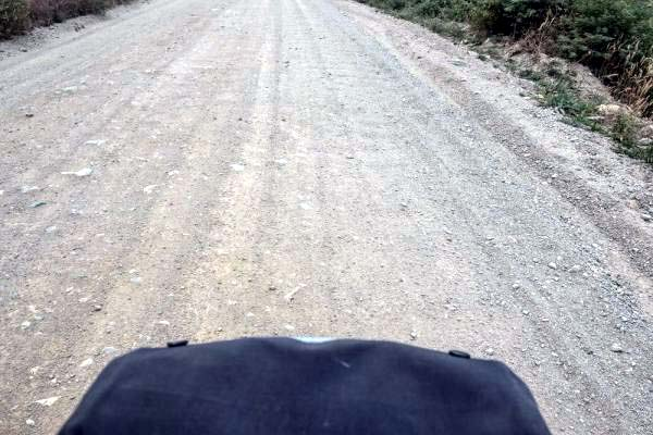 View of Carretera Austral in Racing-Mode