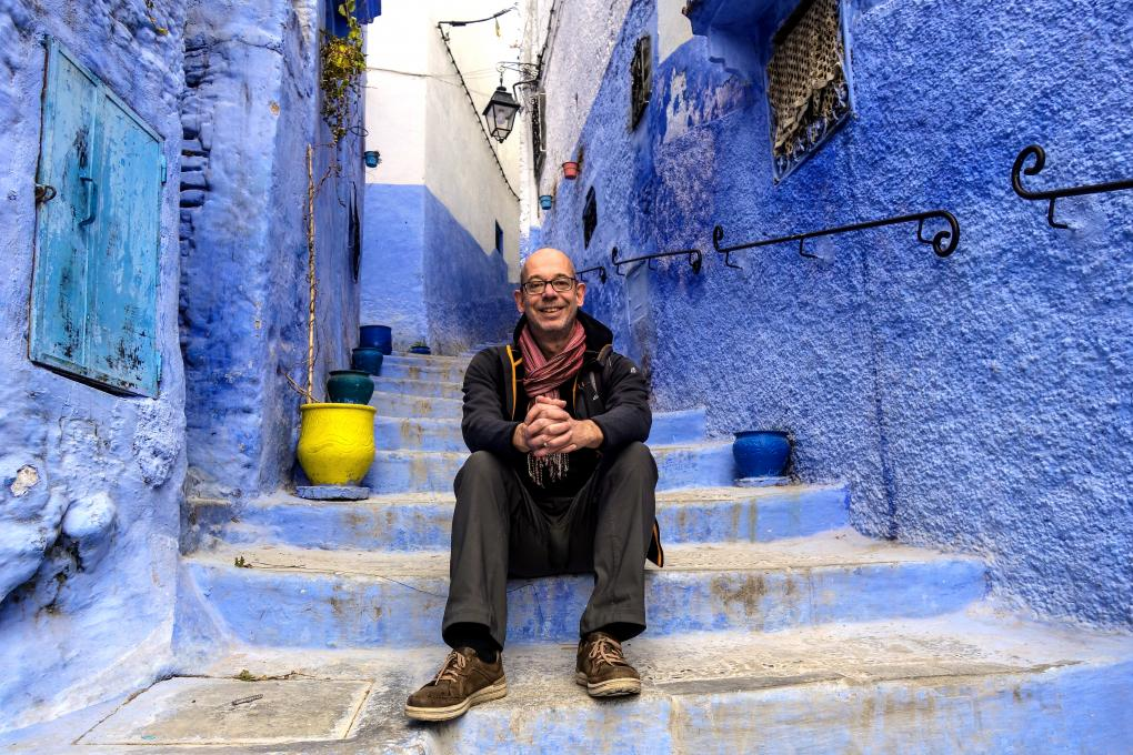 Autor Thomas Bering in Chefchaouen