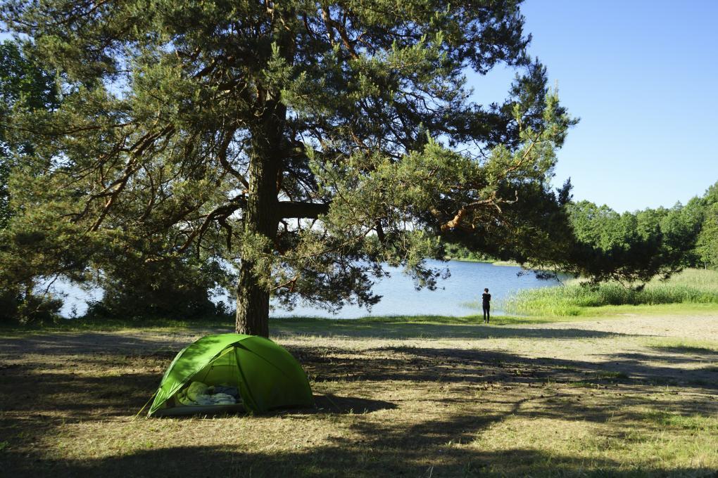 Unser perfekter Camping-Spot in den Wäldern von Trakai