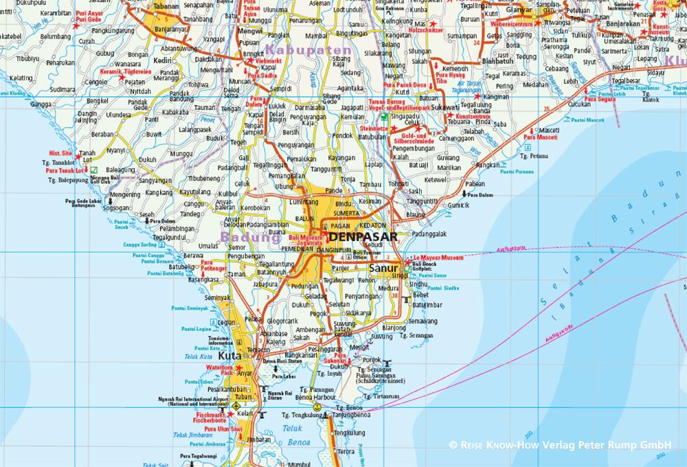 Indonesien Karte Physisch.Bali Lombok Komodo 1 150 000 Indonesien 5 Reise Know