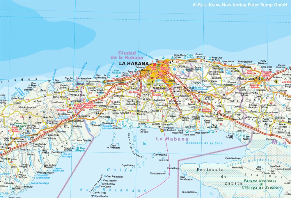 Havanna Kuba Karte.Cuba 1 650 000 Mit Havanna 1 50 000 Reise Know How Verlag