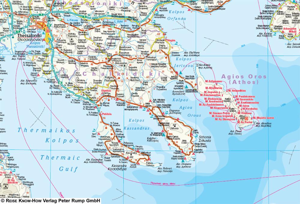Karte Griechenland Peloponnes.Griechenland 1 650 000 Reise Know How Verlag