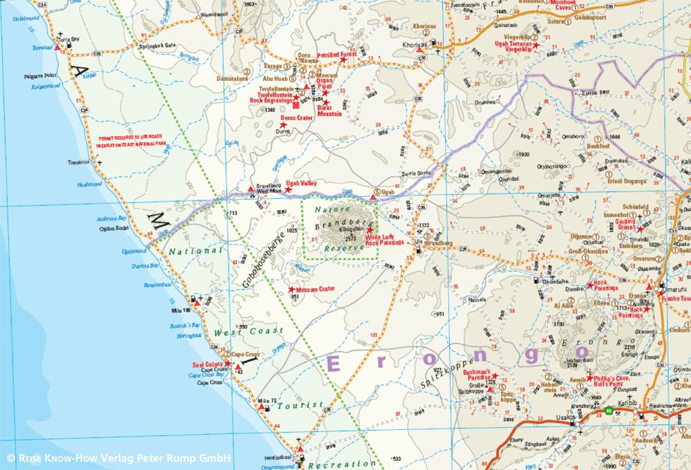 Karte Namibia Download.Namibia 1 1 200 000 Reise Know How Verlag