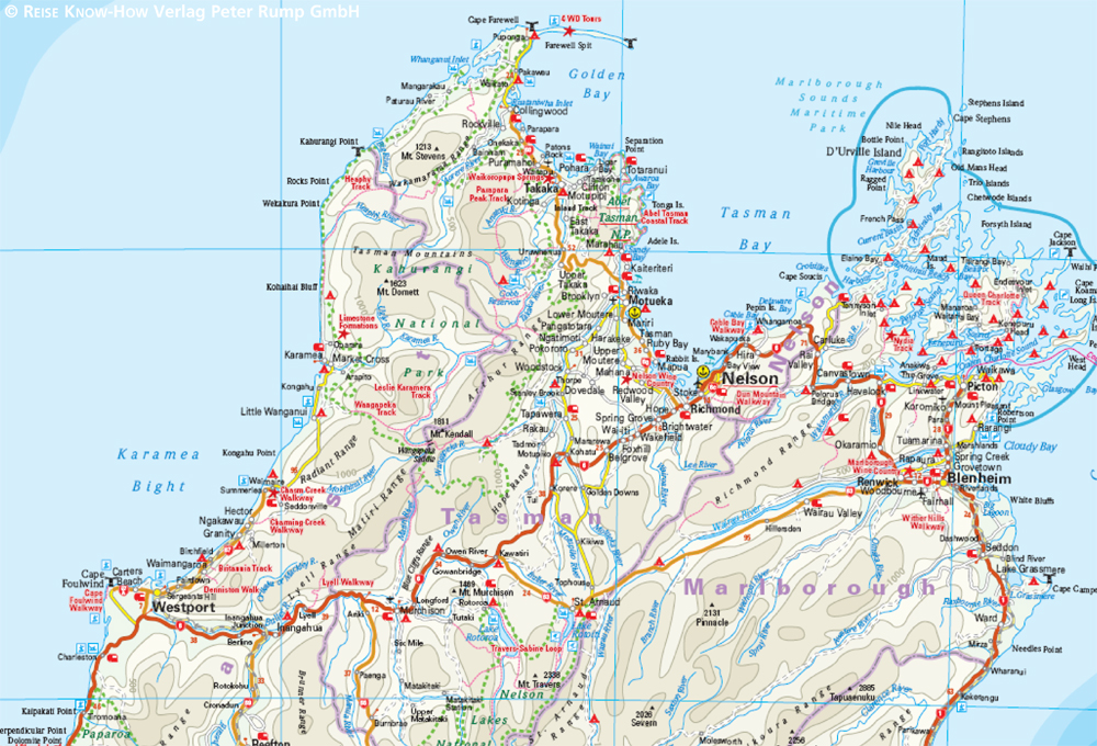 Neuseeland Nordinsel Karte.Neuseeland New Zealand 1 1 000 000 Reise Know How Verlag