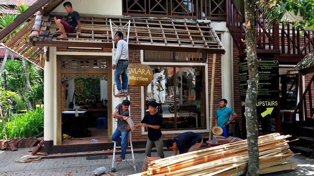 Wiederaufbau Senggigi