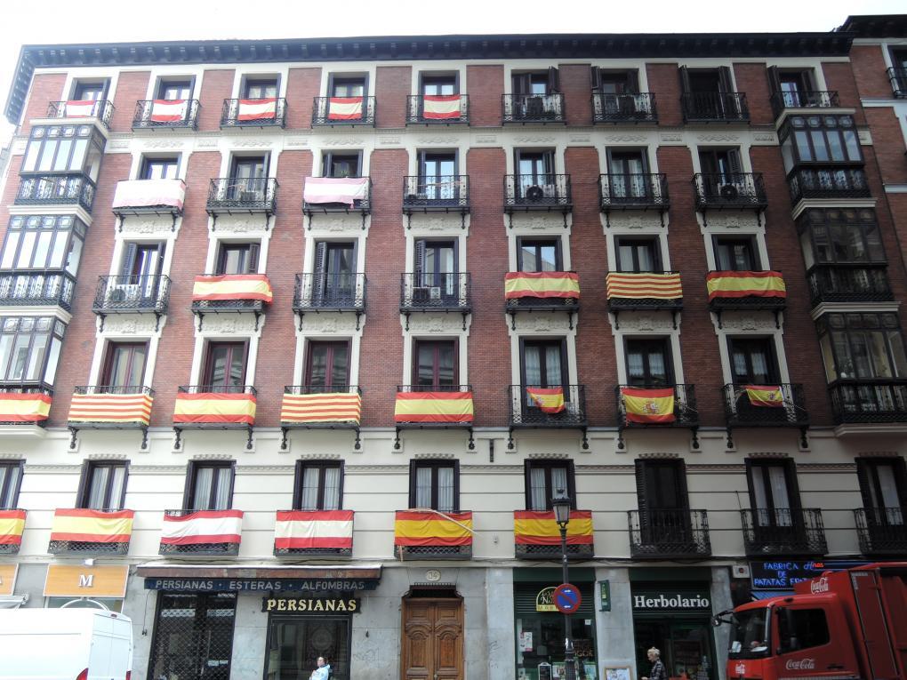 Ein Haus mit einer Pro-Katalonien-Minderheit
