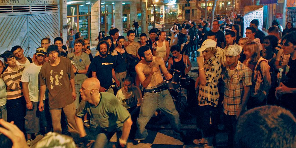 Foto: Jerusalem, Breakdance mit Live-Band