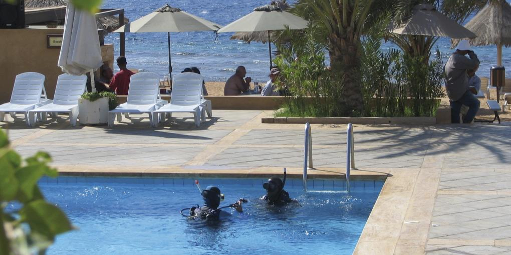 Aqaba, im Royal Diving Club